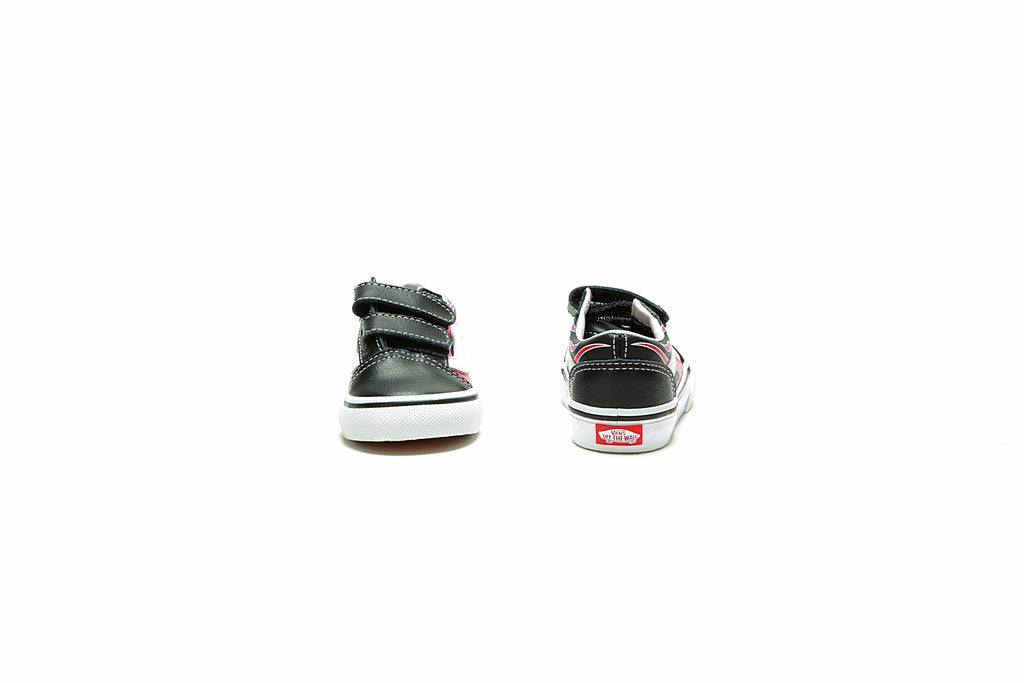 Toddlers Old Skool V - (Moto Flame) Black/Racing Red