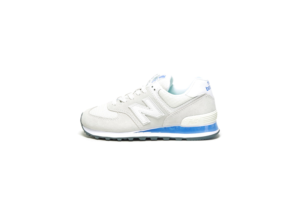 Women's 574 Translucent (B) - White/UV Blue