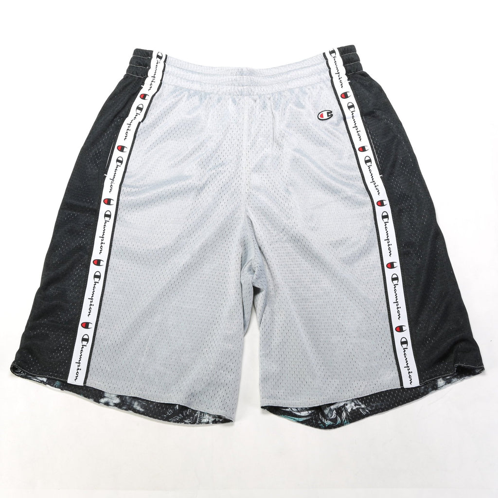 Reversible Mesh Shorts - Silverstone/Black/Blur Tropic