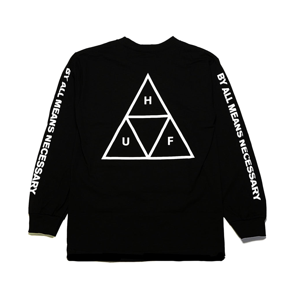 Essentials Triple Triangle LS Tee - Black