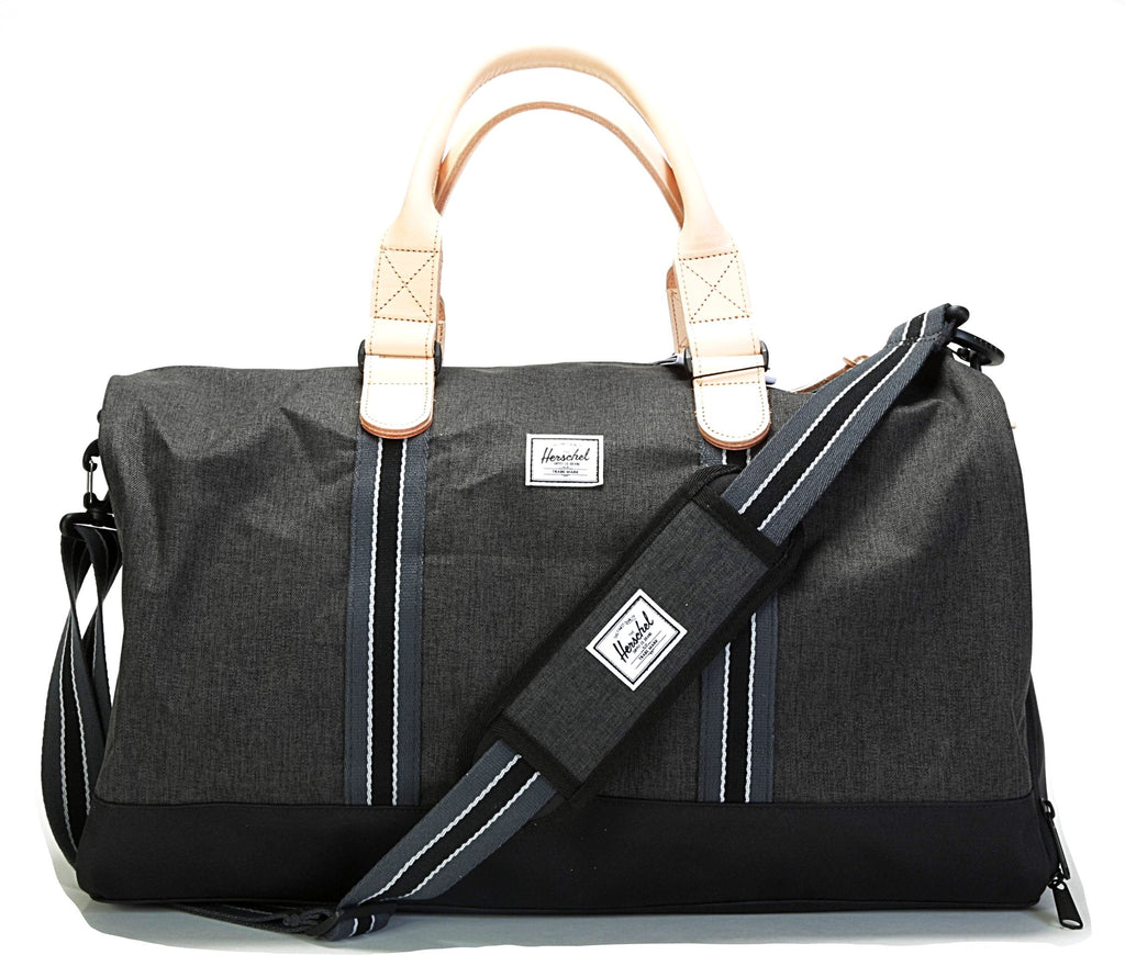 Novel Duffle - (Offset) Black Crosshatch/Black