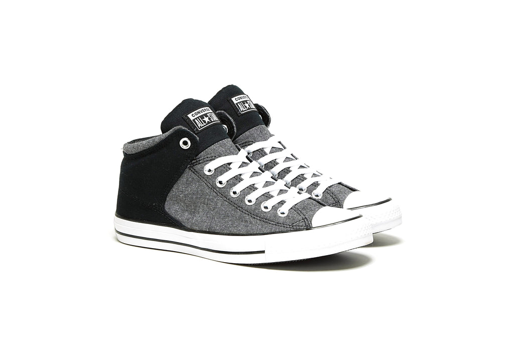 CTAS High Street Hi - (Washed Ashore) Black/White