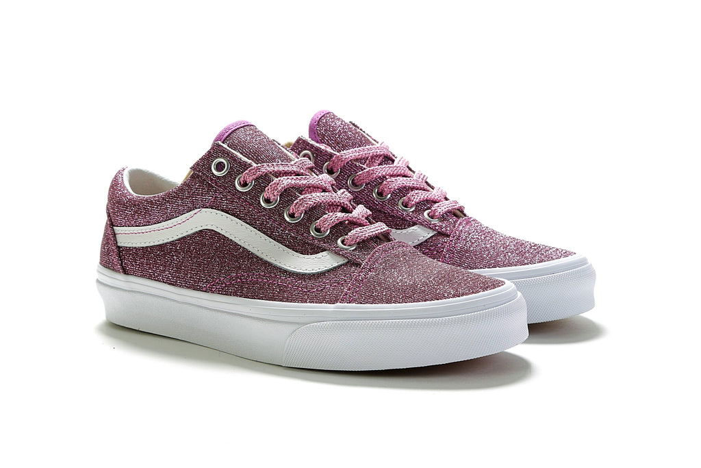 Old Skool - (Lurex Glitter) Pink True White – PRIME 570fe0de5
