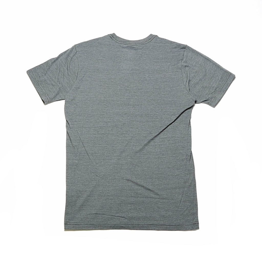 Tri-Blend Half Dome S/S Tee - Medium Grey Heather/Fiery Red