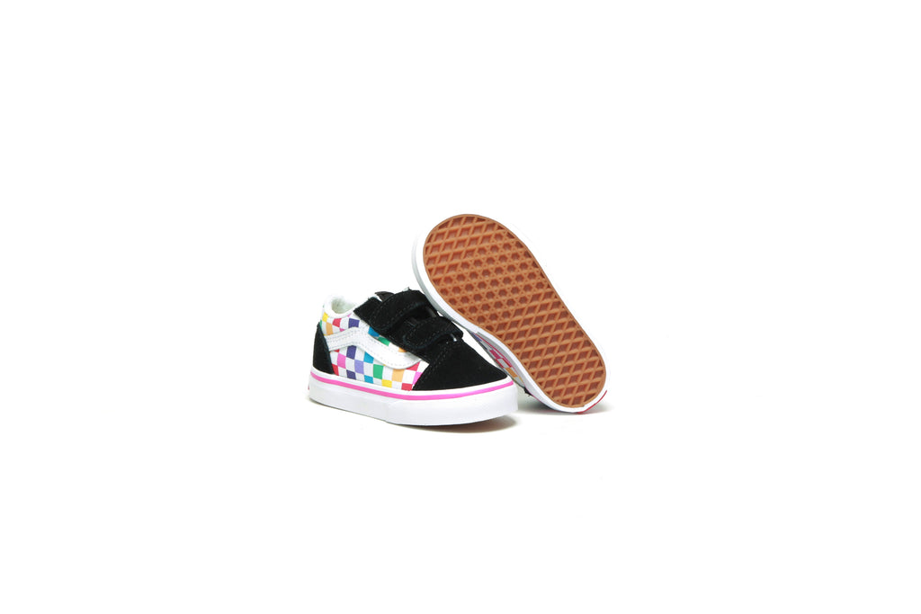 Toddlers' Old Skool V - (Checkerboard) Rainbow/True White