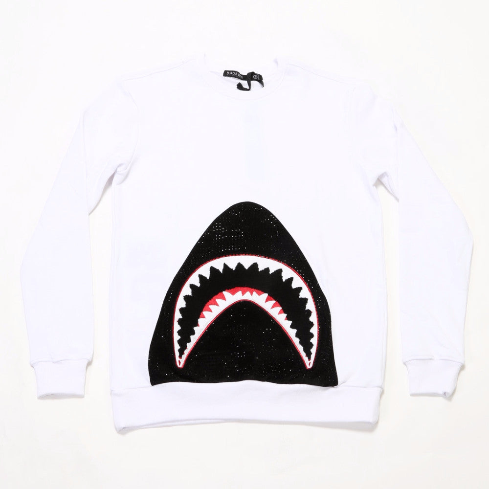 Shark Mouth Crew - White