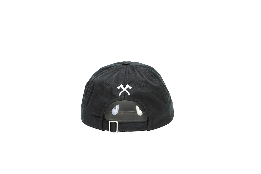 The Norm Hat - Black/White Hatchet Embroidery