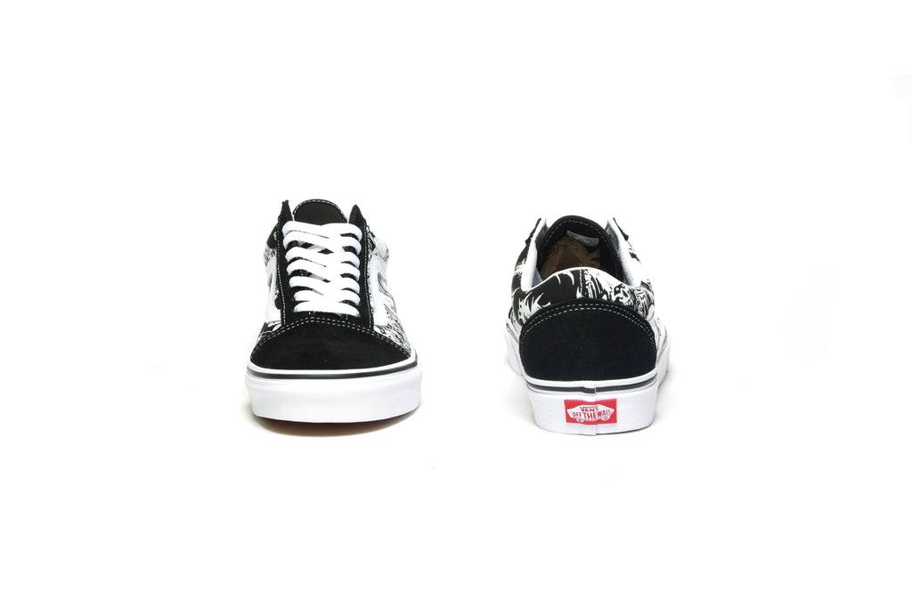 Old Skool - (Forgotten Bones) Black/True White