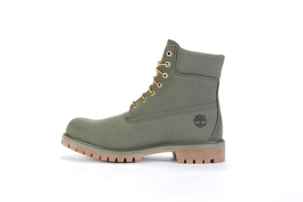 "6"" Fabric Boot (M) - Dark Green/Grape Leaf"