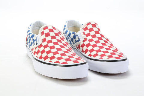 Classic Slip-On - (Checkerboard) Red Blue ... 4812165cc