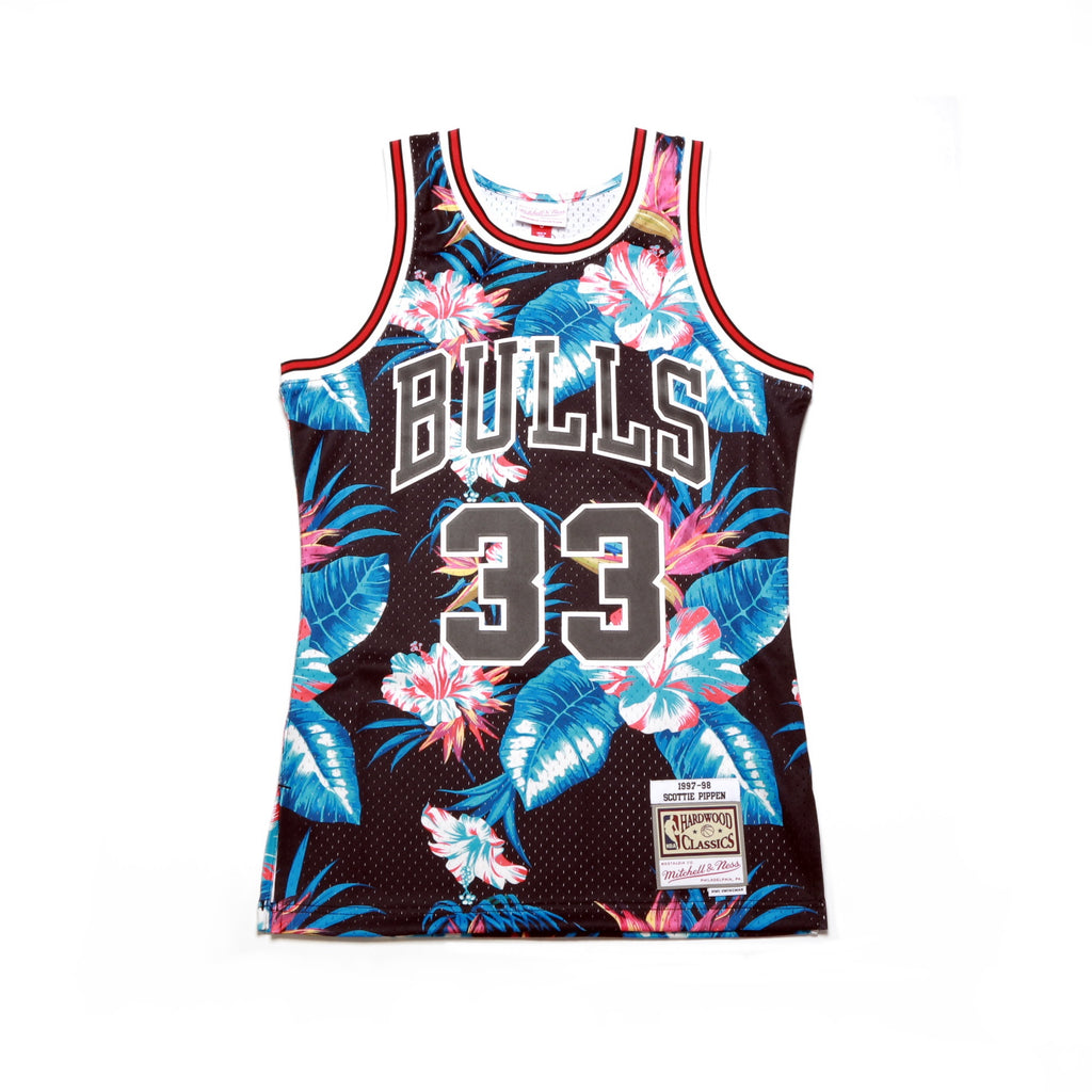 new concept 97a12 090aa NBA Floral Swingman Jersey - (Chicago Bulls) Scottie Pippen