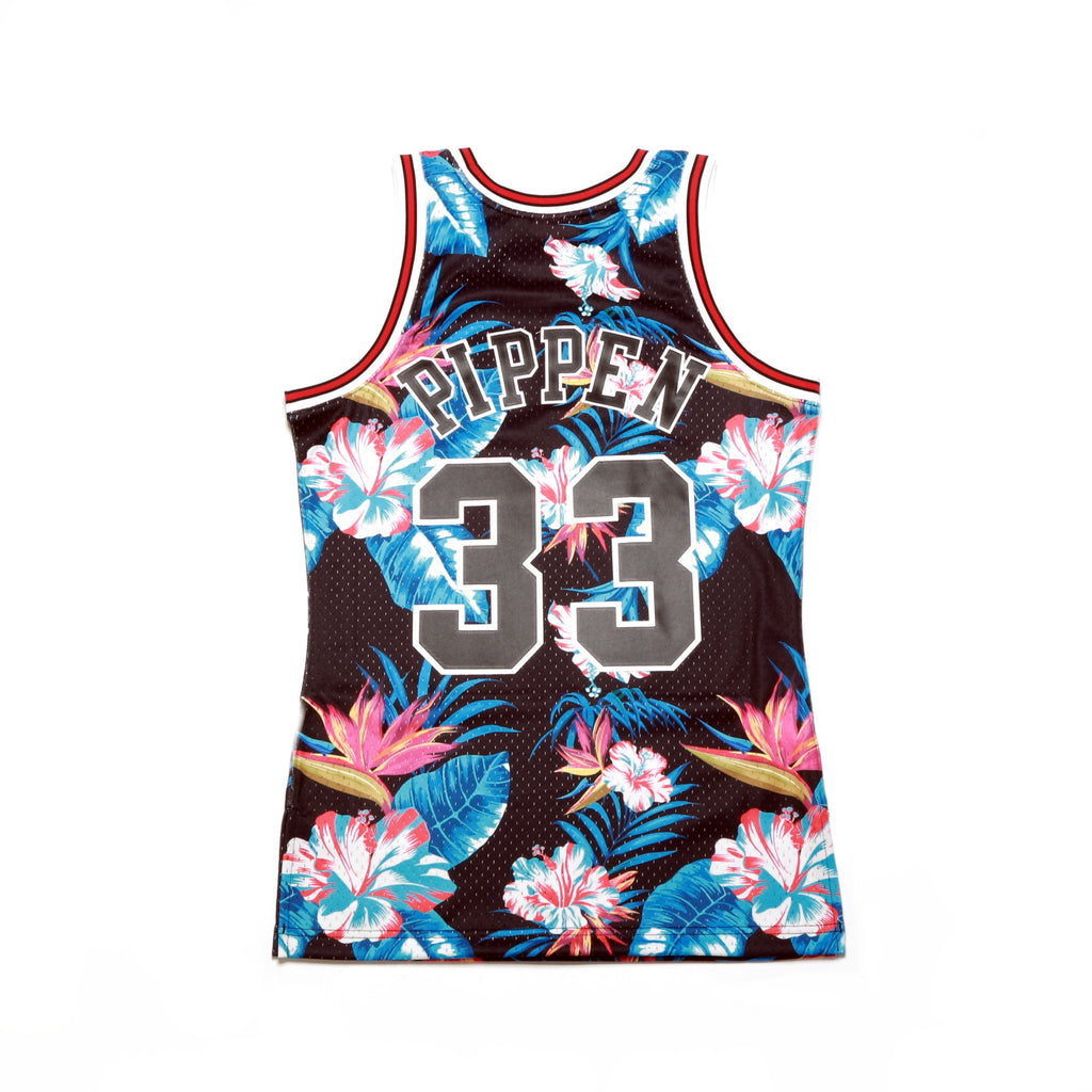 new concept 9ac00 b22ae NBA Floral Swingman Jersey - (Chicago Bulls) Scottie Pippen