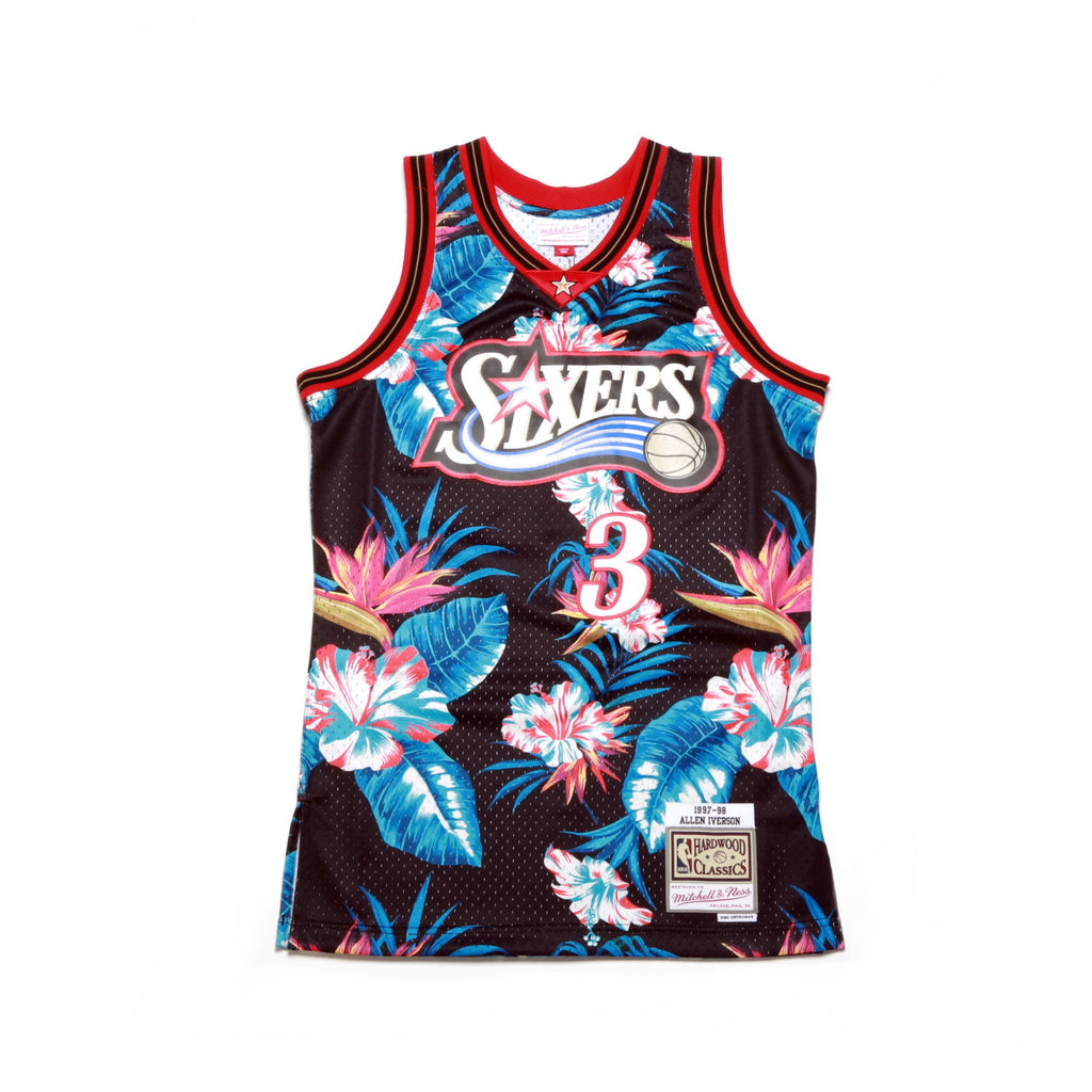 more photos dfb31 4ed29 ... NBA Floral Swingman Jersey - (Philadelphia 76ers) Allen Iverson ...