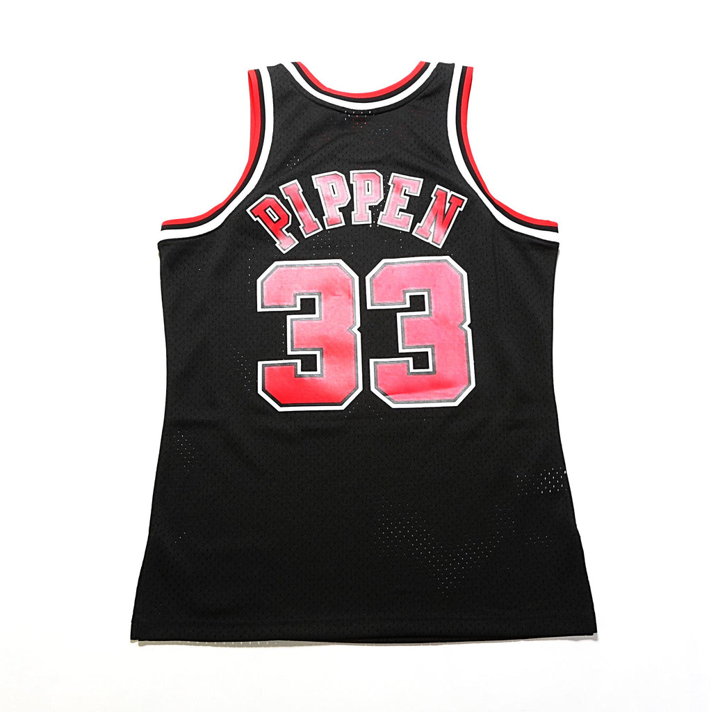 Chicago Bulls Swingman Jersey - (Scottie Pippen)  Black
