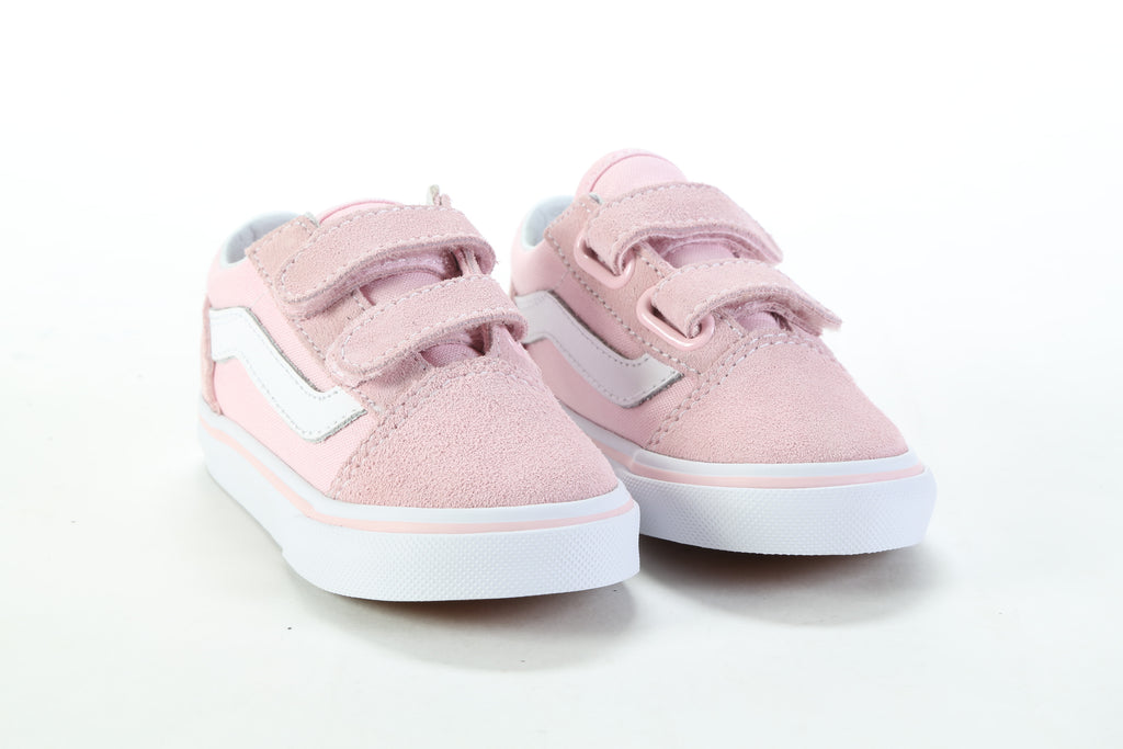 3d4658391147d5 Toddlers  Old Skool V - (Suede Canvas) Chalk Pink True White – PRIME