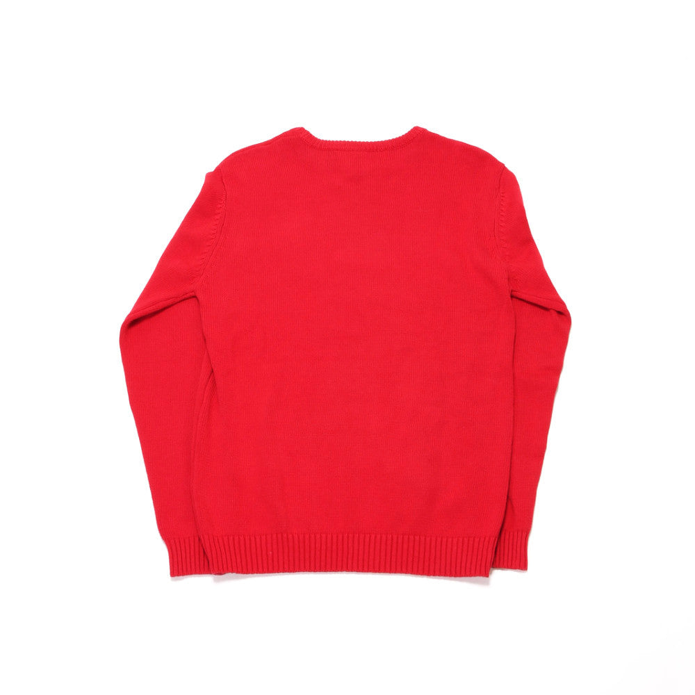 Holiday Bear Knit Sweater - Red