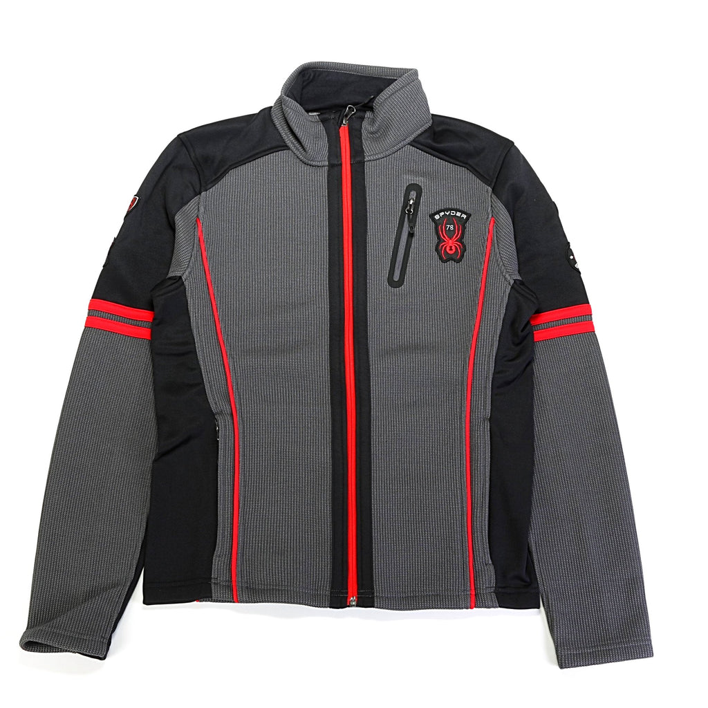 Wengen FZ Stryke Jacket - Polar/Black/Red