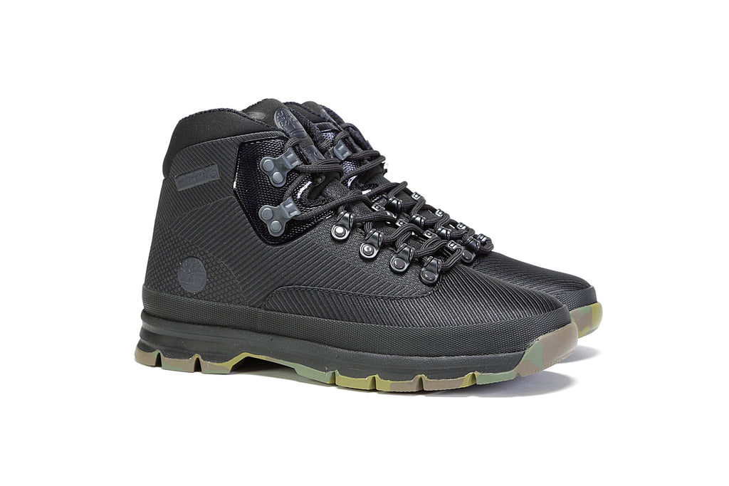 Euro Hiker Jacquard Boot - Black
