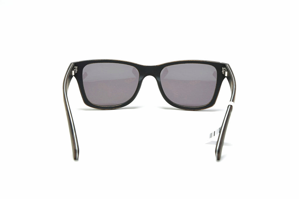 Canby Sunglasses - Distressed Dark Walnut (Grey Lens)