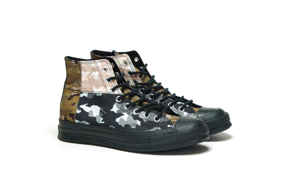 Chuck 70 Hi - (Blocked Camo) Surplus Olive/Black