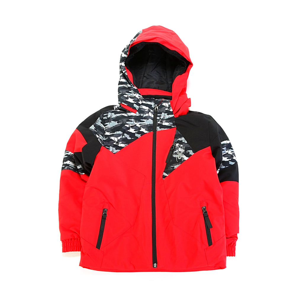 Kid's Mini Leader Jacket - Red/Camo/Black