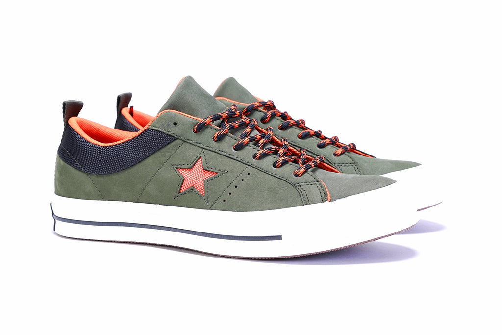 3624bc2be737 One Star Ox - Utility Green Campfire Orange Black ... Converse ...