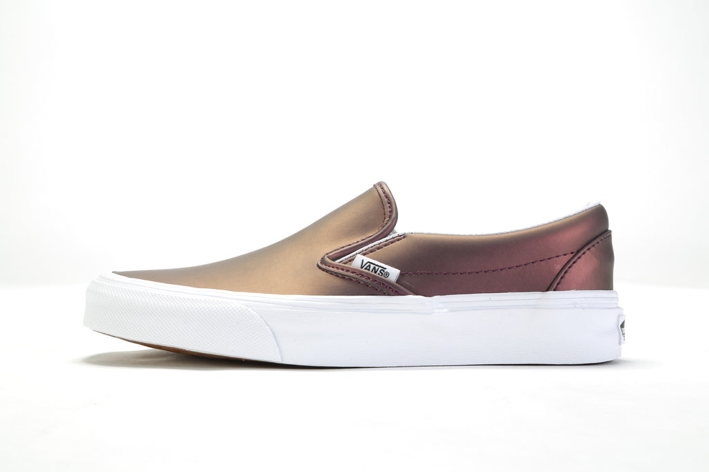 Classic Slip-On - (Muted Metallic) Red/Gold
