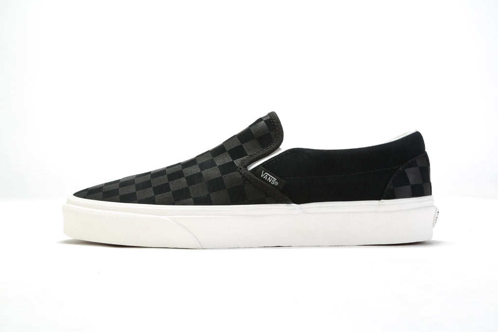 Classic Slip-On - (Checker Emboss) Black/Marshmallow