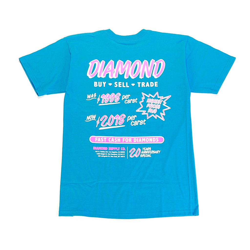 Cash For Diamond SS Tee - Turquoise
