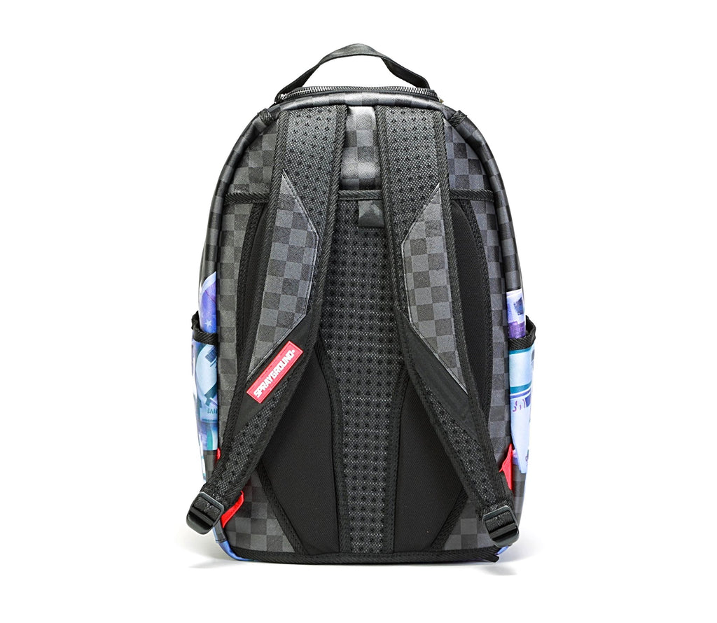500 Euros Banned Backpack - (Checkered) Black/Grey