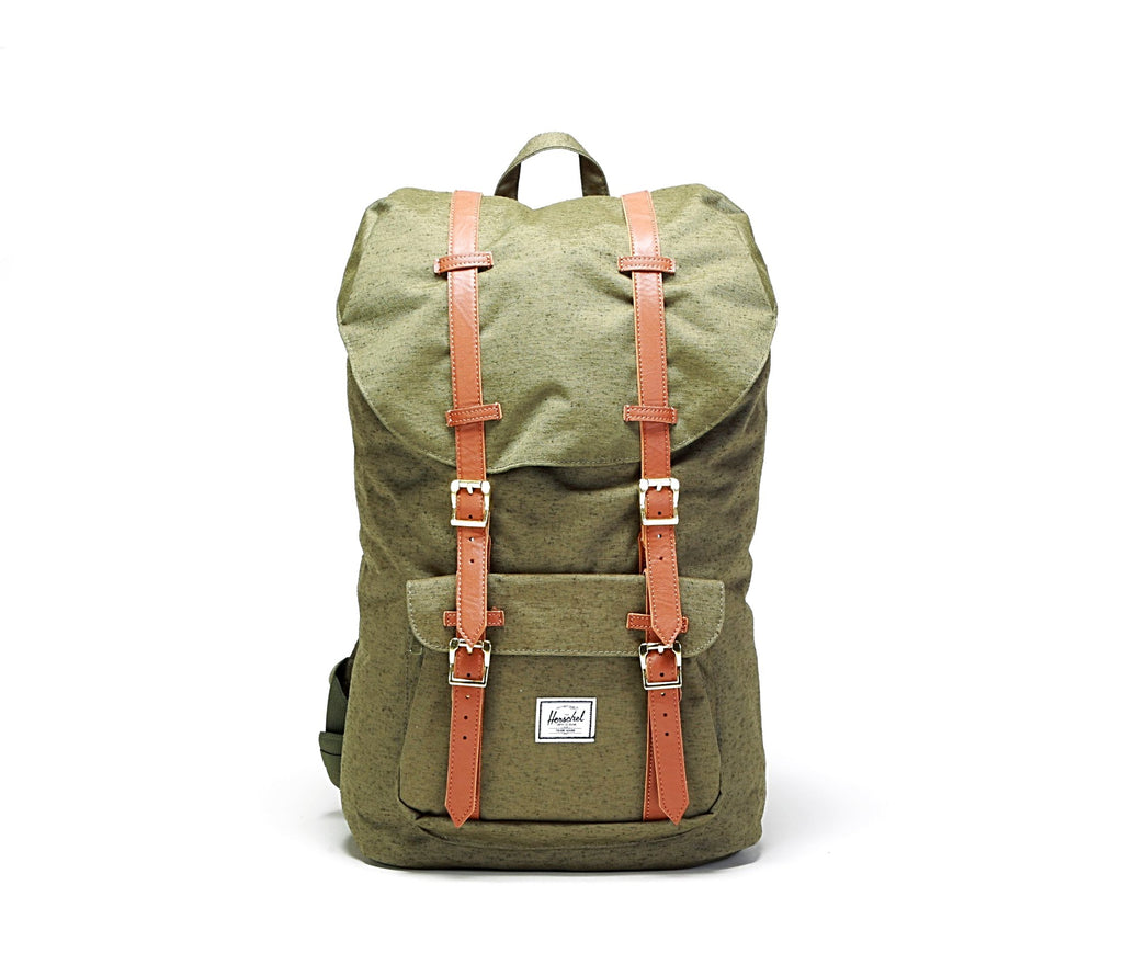 Little America Backpack - Ivy Green/Tan