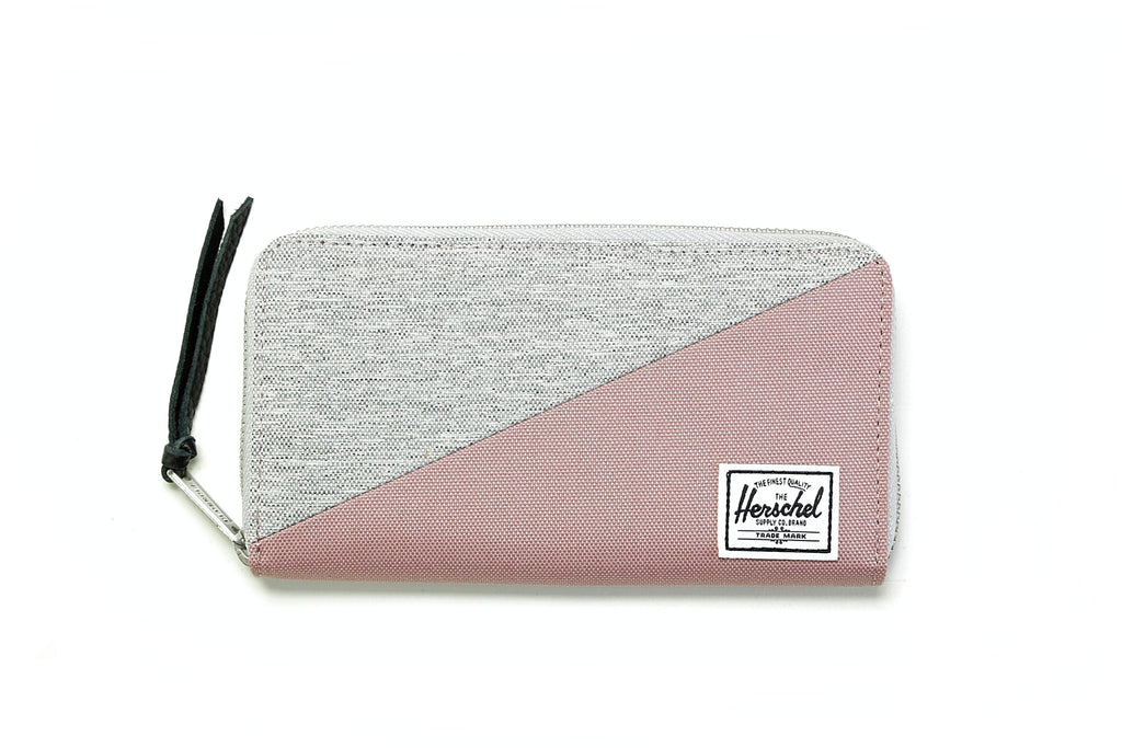 Thomas Wallet - Light Grey Crosshatch/Ash Rose
