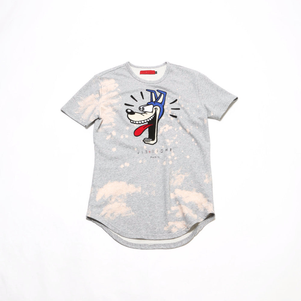 Cartoon SS Tee Shirt - Heather Grey