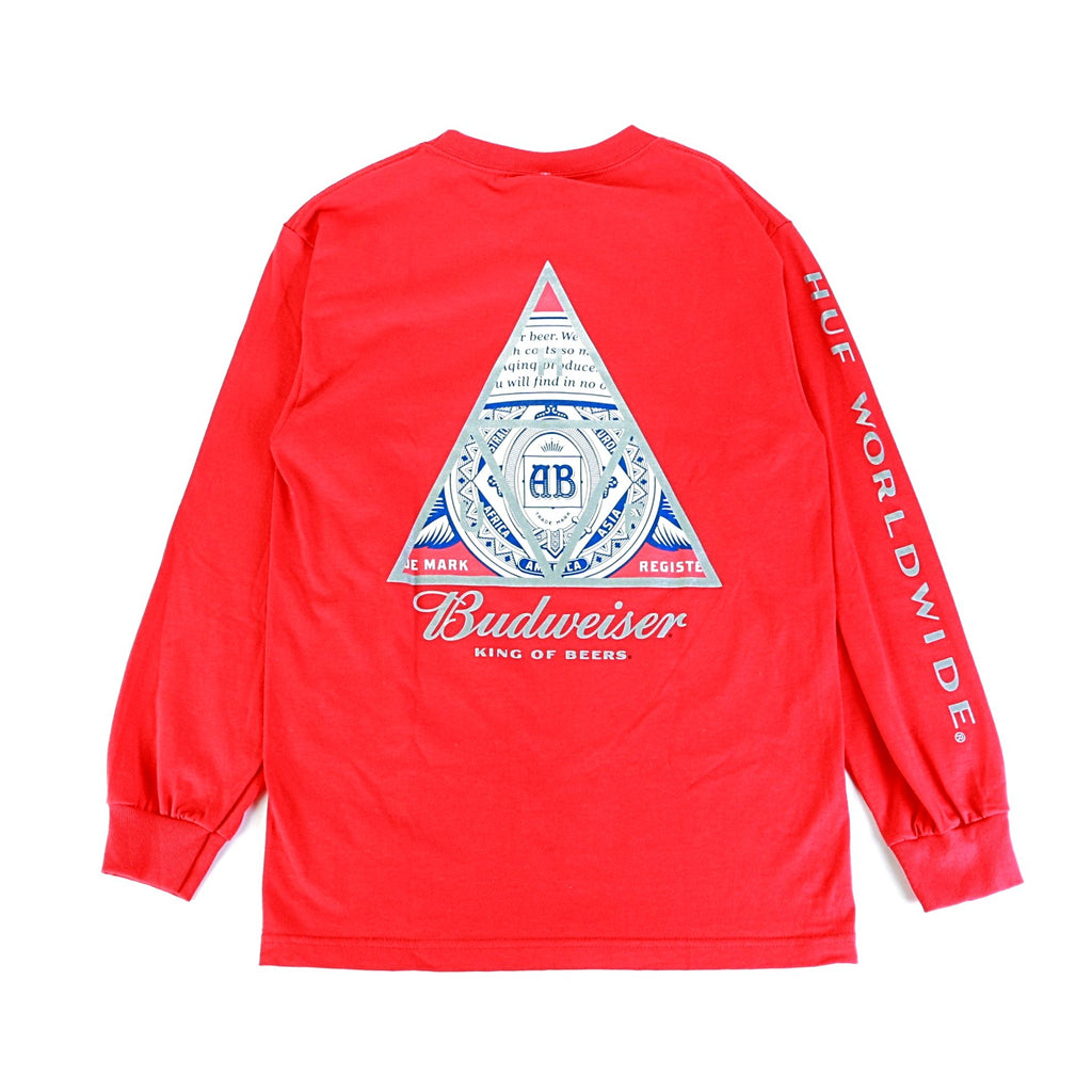 Budweiser Triangle LS Tee - Red