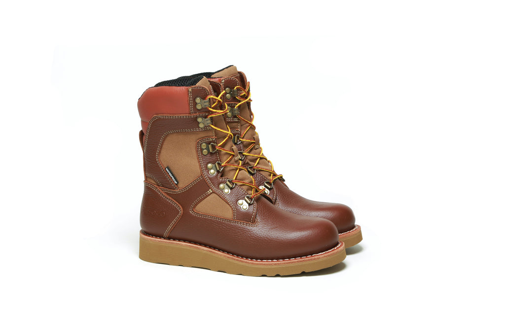 "Welt High 9"" Boot - Rust/Camel"