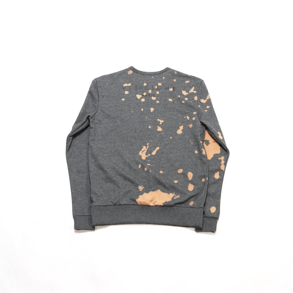 Alpha Cat Bleached Crew - Heather Grey