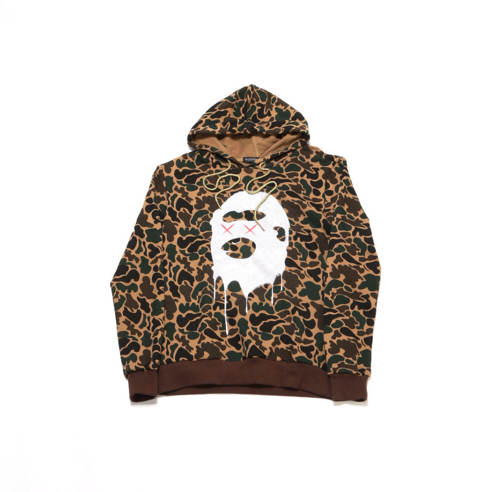 Kill Ape Face Hoody - Olive