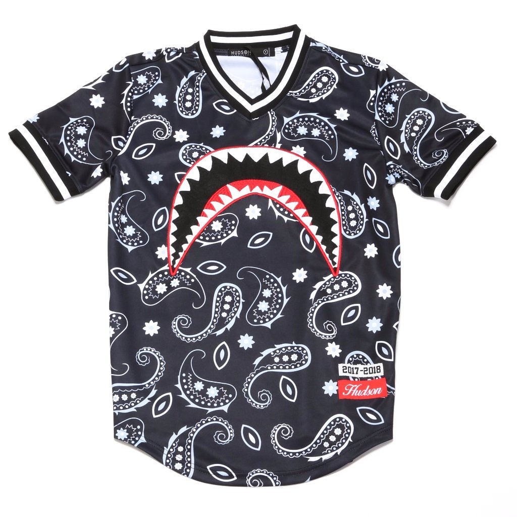 Shark Mouth 2.0 Baseball Jersey - Black