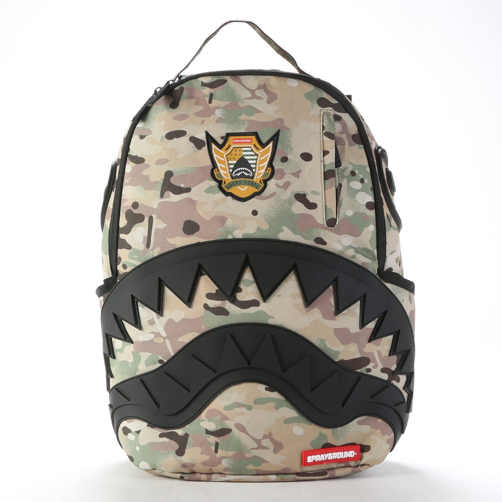 Shark Backpack - Multi Camo/Rubber Black