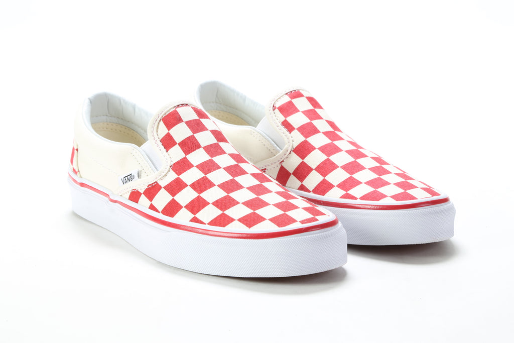93687f76f28 Classic Slip-On - (Primary Check) Racing Red White – PRIME
