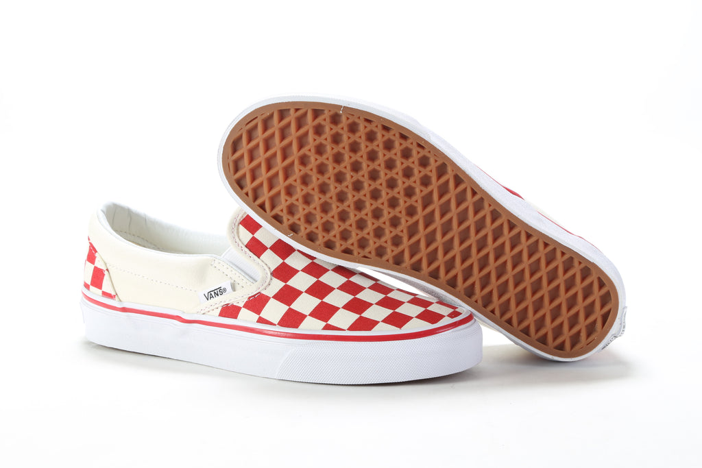 Classic Slip-On - (Primary Check) Racing Red White – PRIME 9391c962d