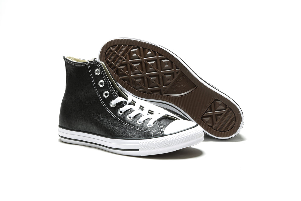 Chuck Taylor All Star Hi - (Leather) Black