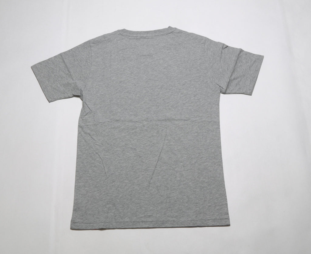 Essentials Stacked Logo Tee - Athletic Grey