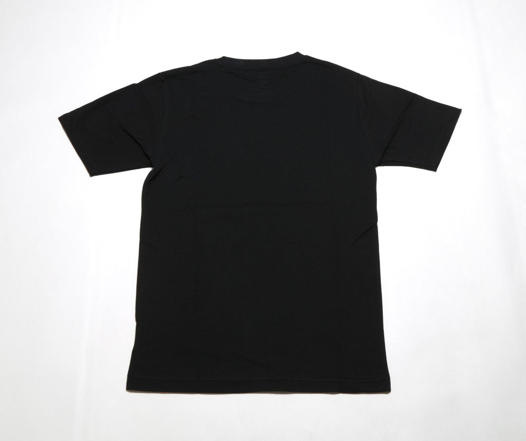 Essentials Stacked Logo Tee - Black
