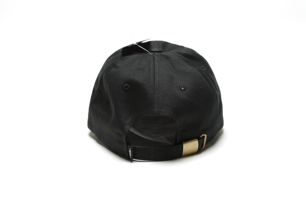 Curved Bill Jockey Hat - Black