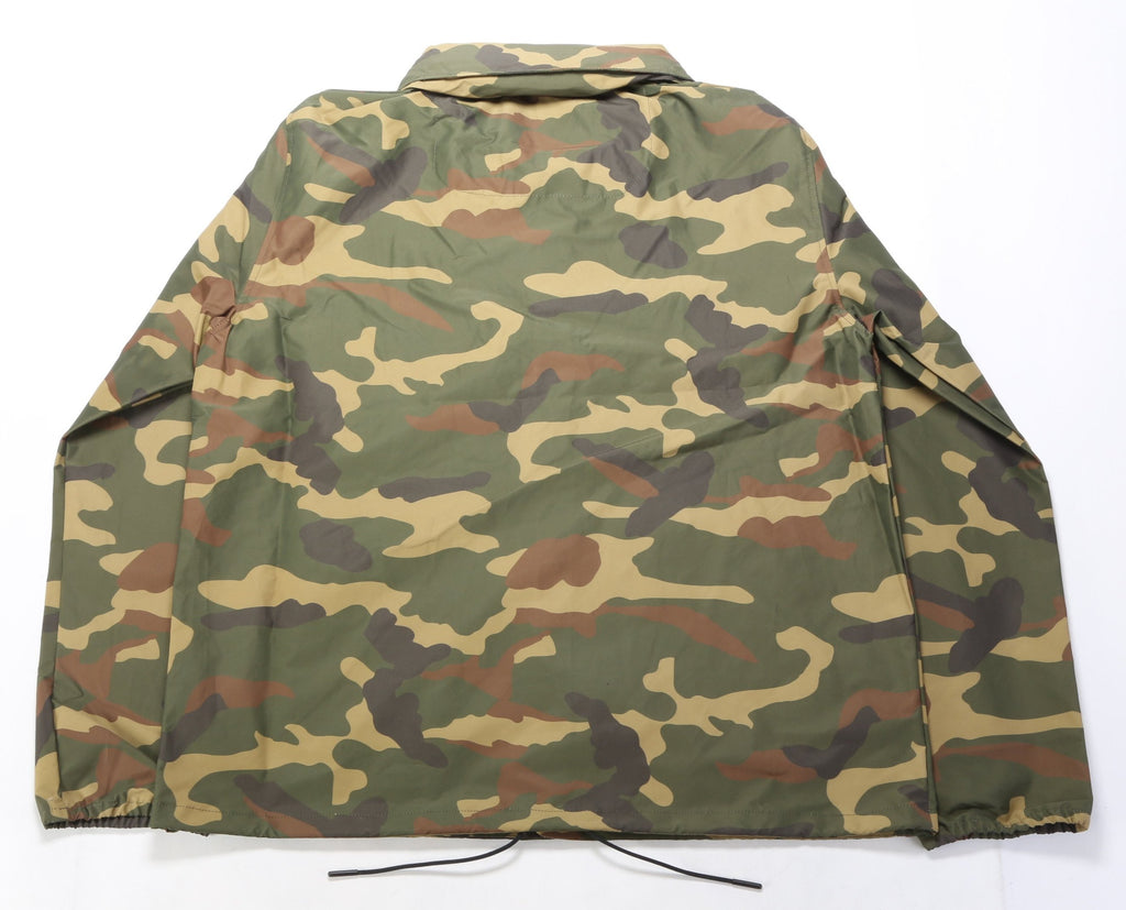 Hooded Coach Jacket - Woodland Camo