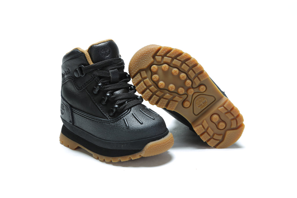Toddler's Euro Hiker Shell Toe Boots - Black