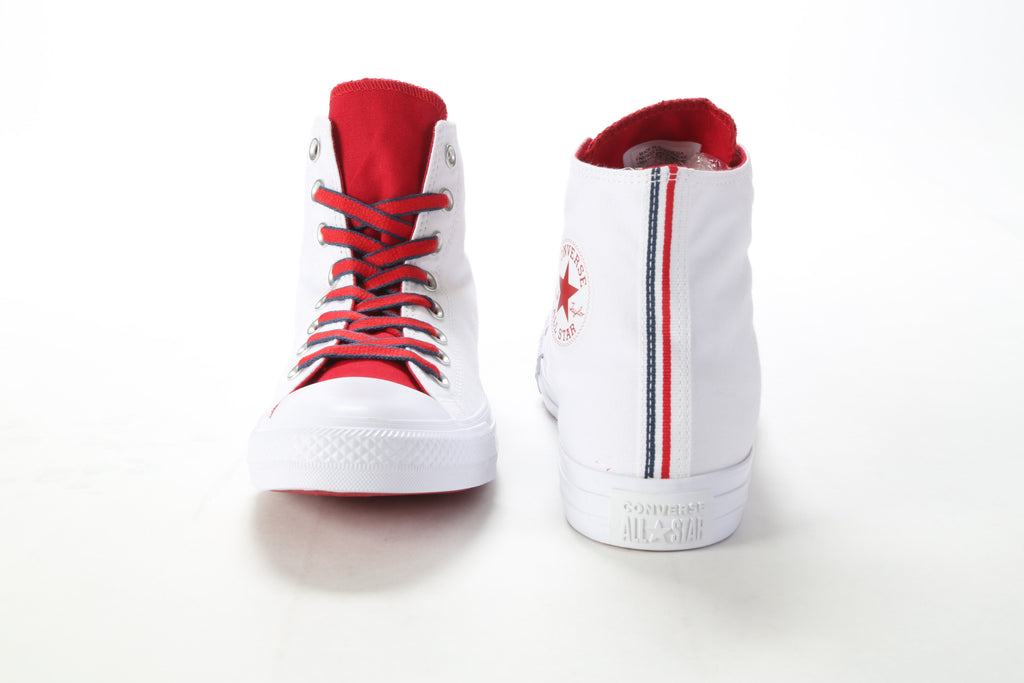 Chuck Taylor All Star Hi - White/Gym Red/Navy