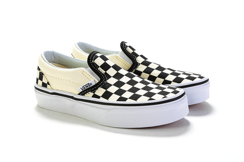Classic Slip-On - (Checkerboard) Ochre/True White