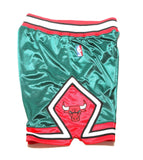 Authentic 2008 Shorts - (Chicago Bulls) Green/Red